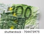 one hundred euro bill  ... | Shutterstock . vector #704473975