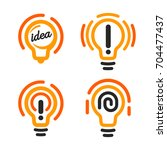 Stylized Lightbulbs Logo Set ...