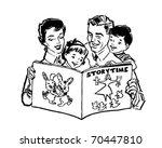 Family Reading Book   Retro...