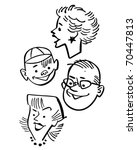 four people   retro clipart... | Shutterstock .eps vector #70447813