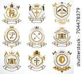 vintage decorative heraldic... | Shutterstock .eps vector #704478379