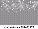 set of golden glowing lights...   Shutterstock .eps vector #704479477