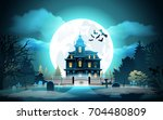 halloween background. halloween ... | Shutterstock .eps vector #704480809