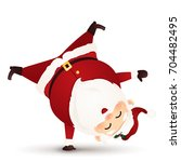 christmas cute  funny  happy... | Shutterstock .eps vector #704482495