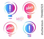 stylized lightbulbs logo set ... | Shutterstock .eps vector #704482525