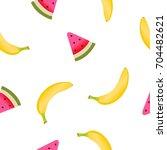fruits pattern   Shutterstock . vector #704482621