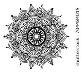mandalas for coloring book.... | Shutterstock .eps vector #704484019