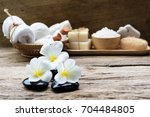 spa wellness concept milk soap... | Shutterstock . vector #704484805