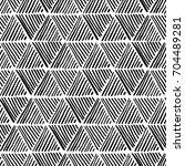 seamless hand drawn geometric...   Shutterstock .eps vector #704489281