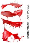 red paint splashes isolated on... | Shutterstock . vector #704493961