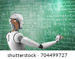 3d rendering robot learning or...   Shutterstock . vector #704499727