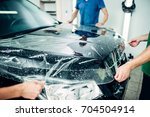 transparent film  car paint... | Shutterstock . vector #704504914