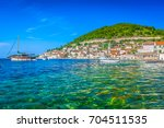 seafront view at famous... | Shutterstock . vector #704511535