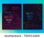 set of cards with liqud colors. ... | Shutterstock .eps vector #704511604