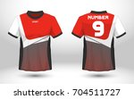 red and white layout football... | Shutterstock .eps vector #704511727