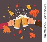 autumn or fall season beer... | Shutterstock .eps vector #704522284