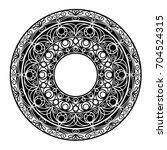 circular vector pattern | Shutterstock .eps vector #704524315