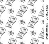 seamless pattern with image of... | Shutterstock .eps vector #704525539
