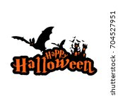 Stock vector happy halloween with bat 704527951