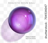 Purple Transparent Resin Ball....