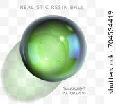 Green Transparent Resin Ball....