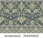 seamless traditional indian... | Shutterstock . vector #704535025