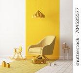 mock up of a children's bedroom ... | Shutterstock . vector #704535577