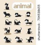 Stock vector cat cartoon vector cute 704538655