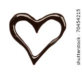 Close Up Chocolate Syrup Heart...