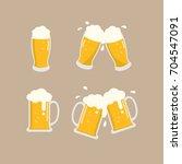 beer vector   Shutterstock .eps vector #704547091