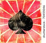 Grunge Background  Playing Card