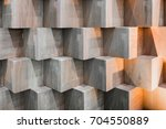 wooden cube boxes creating... | Shutterstock . vector #704550889
