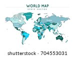 political world map with the... | Shutterstock .eps vector #704553031