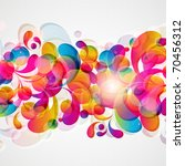 abstract background with bright ... | Shutterstock . vector #70456312