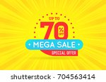 sale sign banner poster ready... | Shutterstock . vector #704563414