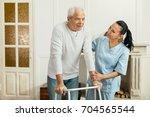 nice handsome man walking | Shutterstock . vector #704565544