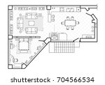 floor plan  top view. the... | Shutterstock .eps vector #704566534