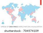 raster flat world map... | Shutterstock . vector #704574109