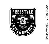 skateboarding t shirt design.... | Shutterstock .eps vector #704583655
