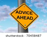 advice ahead helpful... | Shutterstock . vector #70458487