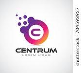 colorful initial letter c logo...   Shutterstock .eps vector #704593927