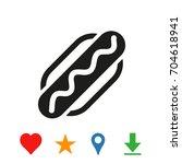 hotdog icon   Shutterstock .eps vector #704618941