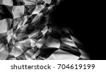 checkered racing flag on black | Shutterstock . vector #704619199