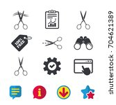 scissors icons. hairdresser or...
