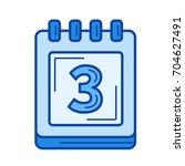 calendar organizer vector line... | Shutterstock .eps vector #704627491