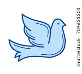 dove vector line icon isolated... | Shutterstock .eps vector #704631301