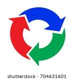 three part circular arrows | Shutterstock .eps vector #704631601