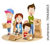 vector cartoon illustration of...   Shutterstock .eps vector #704636815