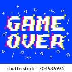 vector game over phrase in...   Shutterstock .eps vector #704636965
