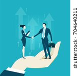 business meeting and working...   Shutterstock .eps vector #704640211